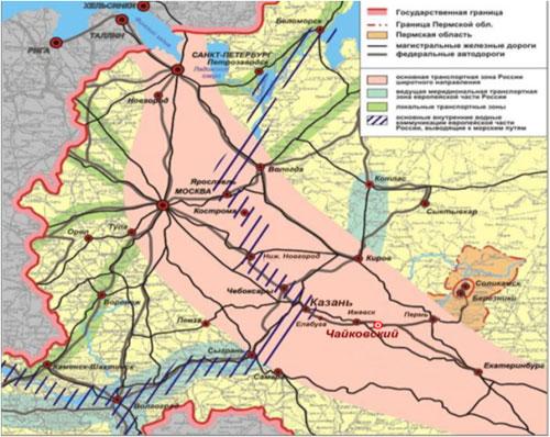 транспортных связей России